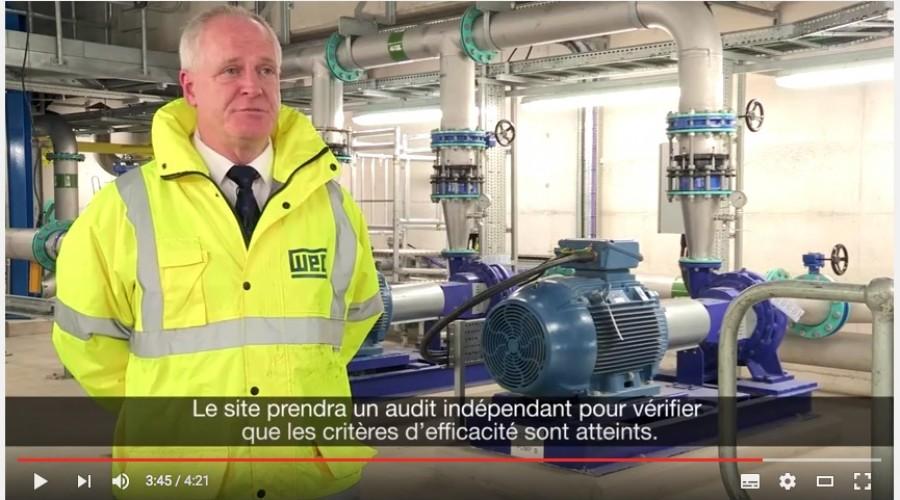 Moteurs de pompes pour le traitement de l'eau en station d'épuration