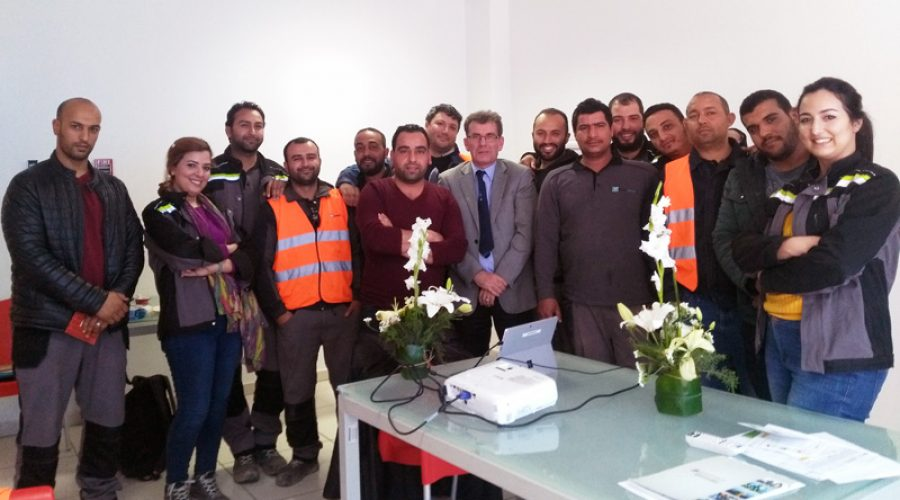 Formation WEG à la cimenterie de Jebel Ressas (Tunisie)