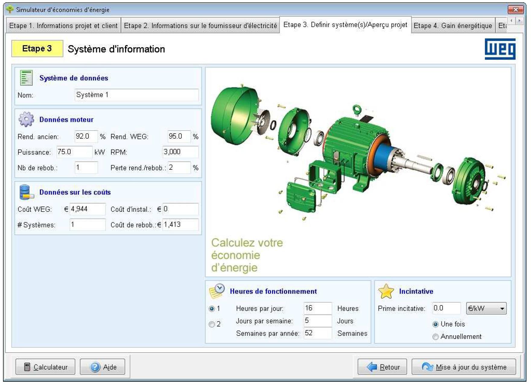 Simulateur d'économies d'énergie