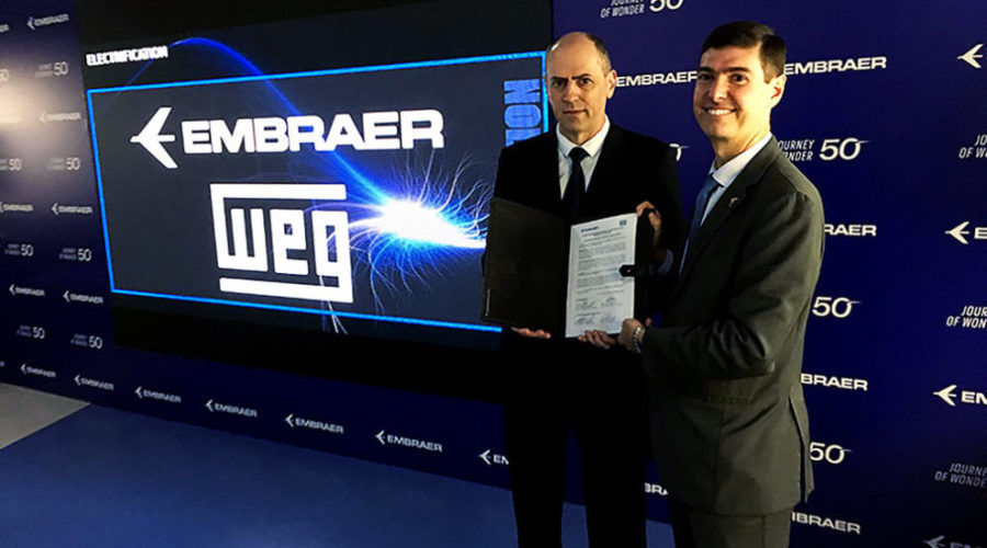 WEG s'associe à Embraer pour développer des systèmes de propulsion électrique pour les avions