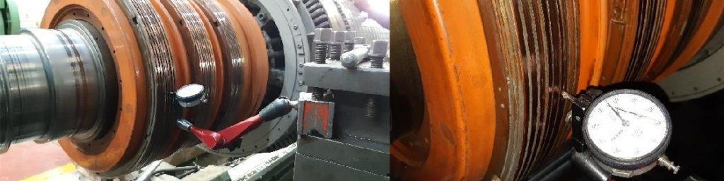 Contrôle des bagues d'un moteur WEG